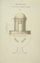Second design for a mausoleum in memory of Marquis Cornwallis at Ghazipur (U.P.)